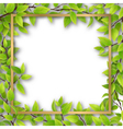 frame overgrown tree branches vector image