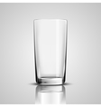 glass cup vector image