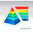 Pyramid for infographic and presentations vector image