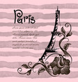 romantic eiffel tower in paris background vector image