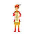 royal scribe medieval character holding a scroll vector image