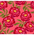 Seamless pattern with peony flowers Bright buds vector image
