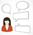 Woman and speech bubbles vector image vector image