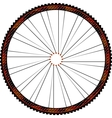 Bike wheel - on white background vector image vector image