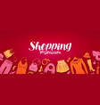 shopping boutique banner fashion store concept vector image