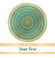 golden and teal mandala background vector image