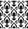 Seamless fleur-de-lis royal black pattern vector image