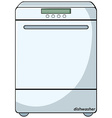 Dishwasher vector image vector image
