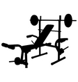 weight bench vector image