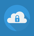 Cloud Computing Flat Icon Security vector image