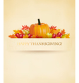 Retro Happy Thanksgiving Background vector image vector image