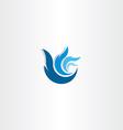 abstract blue logo wave water symbol vector image