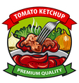 tomato ketchup label design vector image