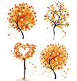autumn tree set vector image
