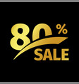 black banner discount purchase 80 percent sale vector image