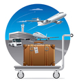 deliveryof luggage suitcase vector image