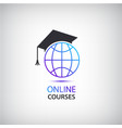 internet learning teaching online courses vector image
