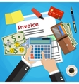 invoice payment design vector image