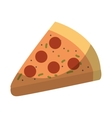 italian pizza isolated icon vector image