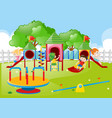 kids playing in the playground vector image