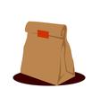 Paper bag packaging vector image