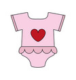 pink baby clothes vector image