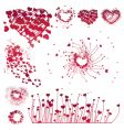 Set of Valentine's design elements vector image