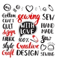 Set of vintage hand drawing elements vector image