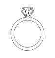 wedding ring icon diamond ring jewelry vector image