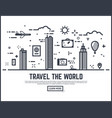 travel the world vector image