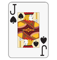 Jumbo index jack of spades vector image vector image