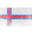 Flag of Faroe Islands with old texture vector image
