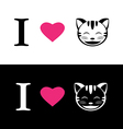 I love cat symbolic message vector image vector image