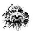 vintage emblem with skull vector image vector image