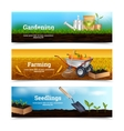 Three Gardening Horizontal Banners vector image