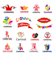 big set of logos carnival vector image