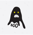 chost boo for halloween vector image