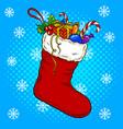 christmas stocking pop art vector image