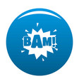 comic boom bam icon blue vector image