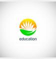 education knowledge book logo vector image