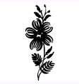 floral decorative silhouette vector image