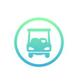 golf car icon on white vector image