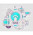 industrial of the mechanism of light bulb C vector image