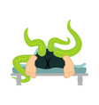 man and cthulhu in bed sex scenes love under vector image