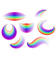 Set of different forms of the rainbow vector image