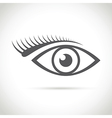 abstract eye icon vector image vector image