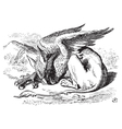 The Sleeping Gryphon vector image vector image