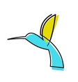 Colourful cartoon hummingbird vector image vector image