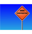 roadsign under construction sky background vector vector image