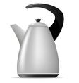 metal tea kettle vector image vector image